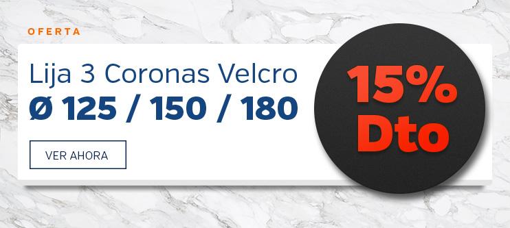 Oferta Lijas Velcro 3 Coronas
