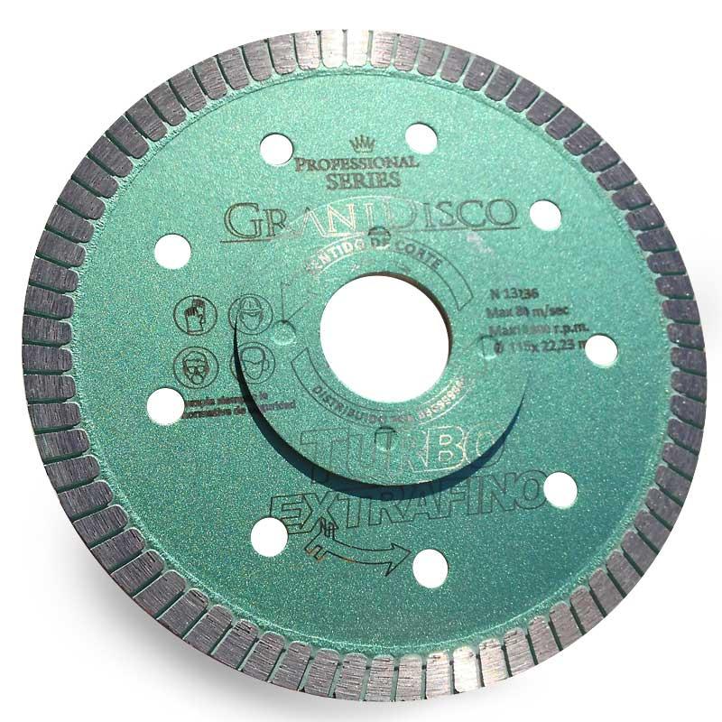 115 mm o 125 mm x 22,23 mm x 1,2 mm, extrafino, 1,2 mm, para amoladora angular, para baldosas, azulejos, cer/ámica, m/ármol, granito, porcelana Disco de corte de diamante