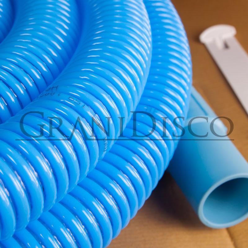 Manguera flexible azul de aspiracion para piscina heliflex 38 for Manguera para piscina